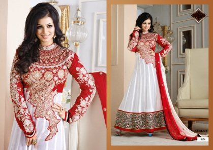 3104 - Ayesha Takia In White Floor Length Anarkali Suit